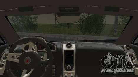 McLaren MP4-12C Gawai v1.5 HQ interior for GTA San Andreas back left view