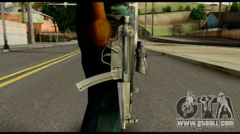 MP5 from Max Payne for GTA San Andreas third screenshot