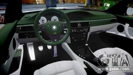 BMW E92 M3 LibertyWalk for GTA 4 inner view