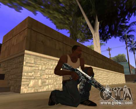 Blue Chrome Weapon Pack for GTA San Andreas sixth screenshot