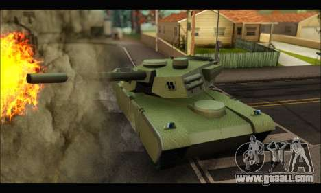 Retextured Rhino Tank for GTA San Andreas back left view