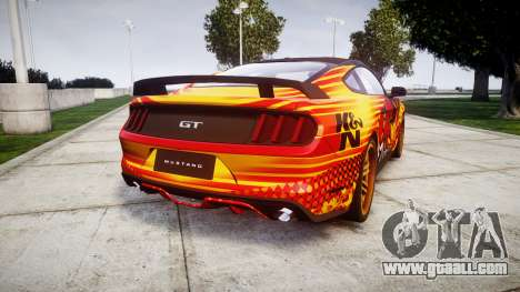 Ford Mustang GT 2015 Custom Kit alpinestars for GTA 4 back left view
