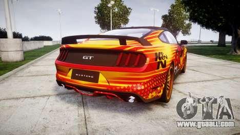 Ford Mustang GT 2015 Custom Kit alpinestars for GTA 4 back left view