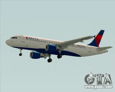 Airbus  A320-200 Delta Airlines for GTA San Andreas side view