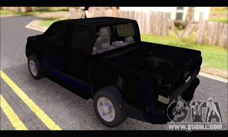 Chevrolet S10 LS 2014 for GTA San Andreas back left view