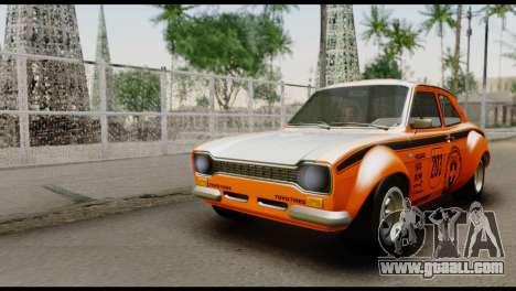 Ford Escort Mark 1 1970 for GTA San Andreas bottom view