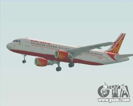 Airbus A320-200 Air India for GTA San Andreas back left view