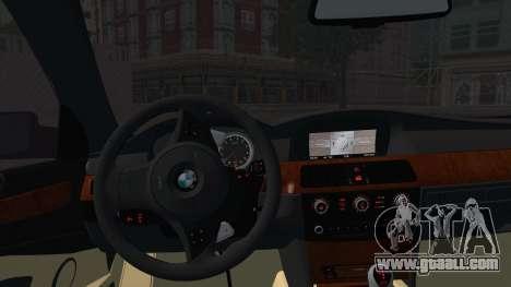 BMW M5 E60 Georgia Police for GTA San Andreas back left view
