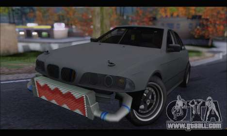 BMW e39 Drag Version for GTA San Andreas left view