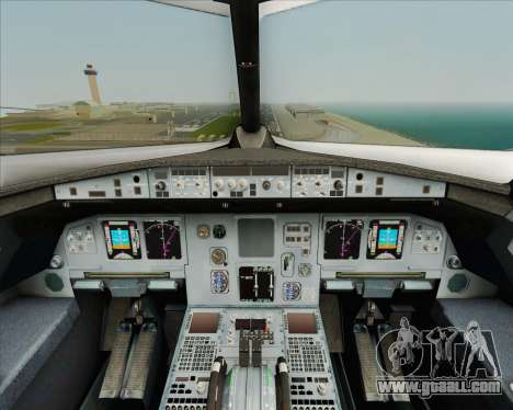 Airbus A320-200 Air India for GTA San Andreas interior
