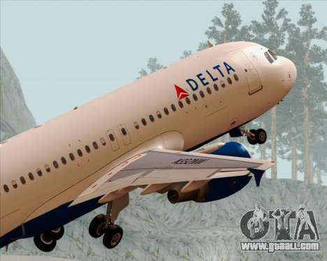 Airbus  A320-200 Delta Airlines for GTA San Andreas engine