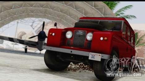 Land Rover Series IIa LWB Wagon 1962-1971 for GTA San Andreas side view