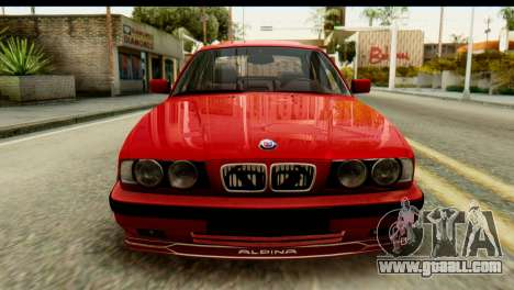 BMW M5 E34 Alpina for GTA San Andreas back view