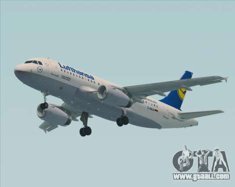 Airbus A319-100 Lufthansa for GTA San Andreas back view