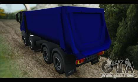 Iveco Trakker 2014 Tipper for GTA San Andreas right view