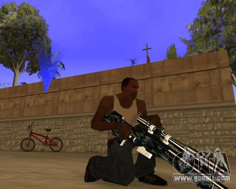 Blue Chrome Weapon Pack for GTA San Andreas forth screenshot