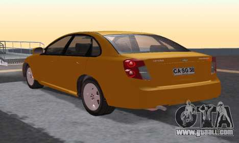 Chevrolet Lacetti for GTA San Andreas back left view
