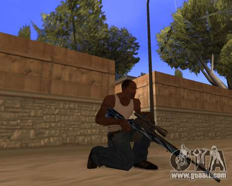 Blue Chrome Weapon Pack for GTA San Andreas second screenshot