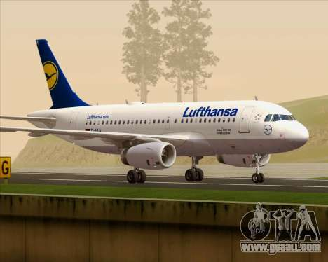 Airbus A319-100 Lufthansa for GTA San Andreas inner view