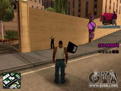 C-HUD Ballas TAWER for GTA San Andreas third screenshot
