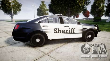 Ford Taurus 2014 County Sheriff [ELS] for GTA 4 left view