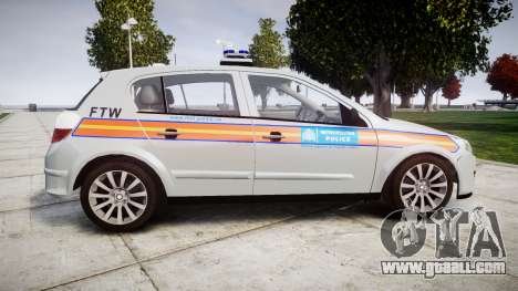 Vauxhall Astra 2009 Police [ELS] 911EP Galaxy for GTA 4 left view