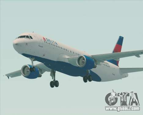 Airbus  A320-200 Delta Airlines for GTA San Andreas right view