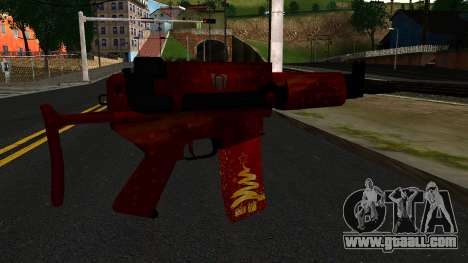 New Year's Eve Assault Rifle 2 for GTA San Andreas second screenshot