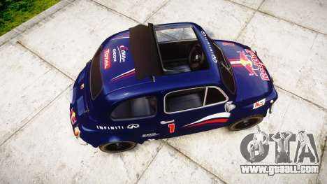 Fiat 695 Abarth SS Assetto Corse 1970 Red Bull for GTA 4 right view