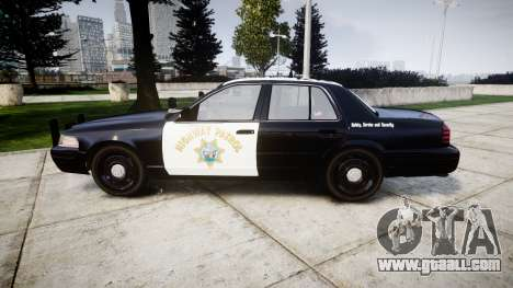Ford Crown Victoria Highway Patrol [ELS] Slickto for GTA 4 left view