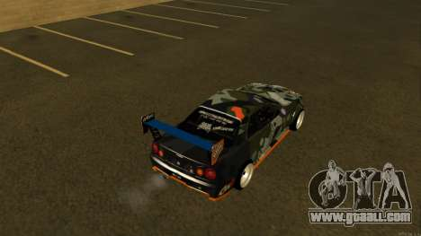 Nissan Skyline R34 FAIL CREW 2014 for GTA San Andreas back left view