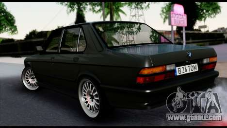 BMW M5 E28 Christmas Edition for GTA San Andreas left view