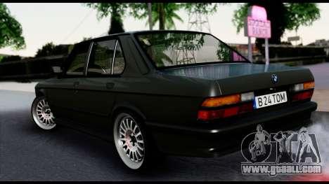 BMW M5 E28 Christmas Edition for GTA San Andreas left view
