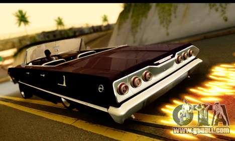 Chevrolet Impala 1963 for GTA San Andreas back view