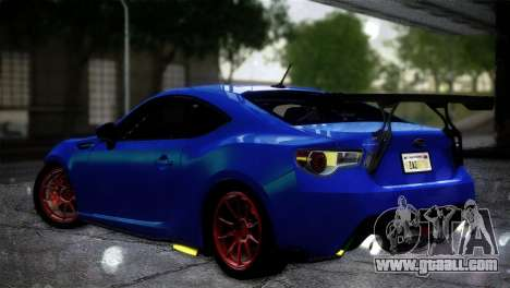 Subaru BRZ Drift Built for GTA San Andreas left view