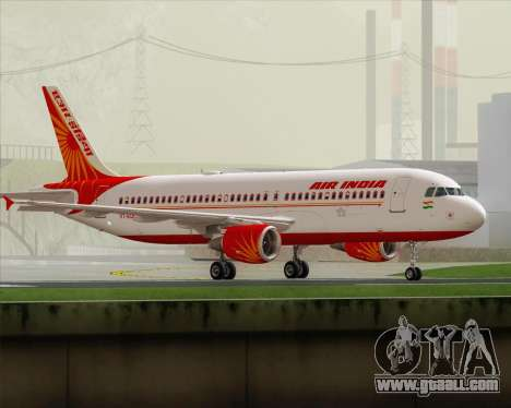 Airbus A320-200 Air India for GTA San Andreas left view