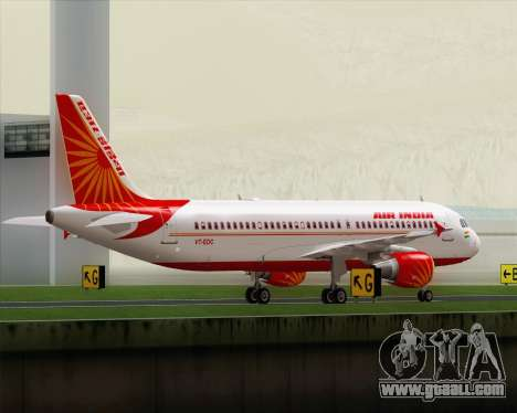 Airbus A320-200 Air India for GTA San Andreas back view