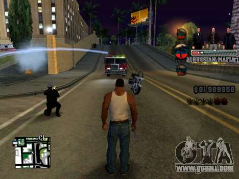 C-HUD Russian Mafia for GTA San Andreas third screenshot