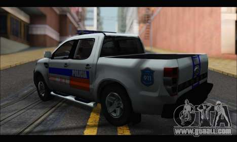 Ford Ranger P.B.A 2015 for GTA San Andreas left view