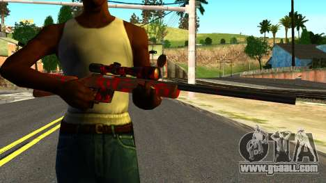 Rifle with Blood for GTA San Andreas