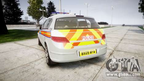 Vauxhall Astra 2009 Police [ELS] 911EP Galaxy for GTA 4 back left view