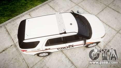 Ford Explorer 2013 Police Interceptor [ELS] for GTA 4 right view