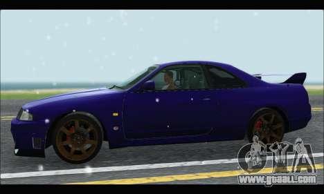 Nissan Skyline R33 for GTA San Andreas left view