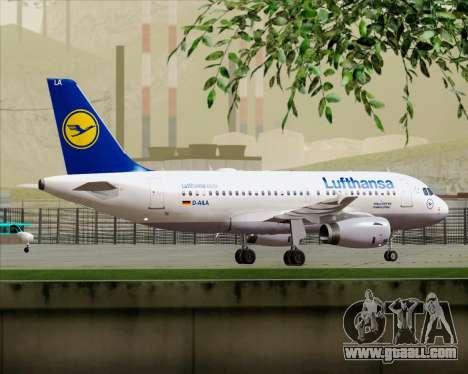 Airbus A319-100 Lufthansa for GTA San Andreas engine