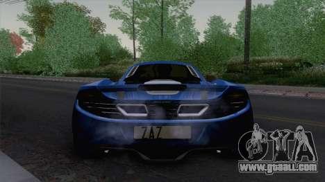 McLaren MP4-12C Gawai v1.5 HQ interior for GTA San Andreas back view