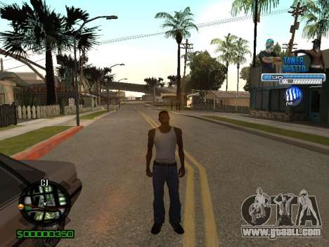 С-Hud Tawer-Ghetto v1.6 Classic for GTA San Andreas fifth screenshot