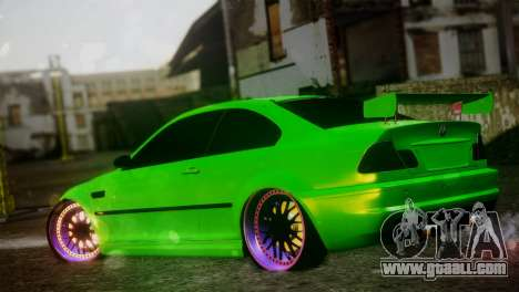 BMW M3 E46 MILKA for GTA San Andreas left view