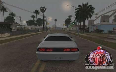Christmas speedometer 2015 for GTA San Andreas fifth screenshot
