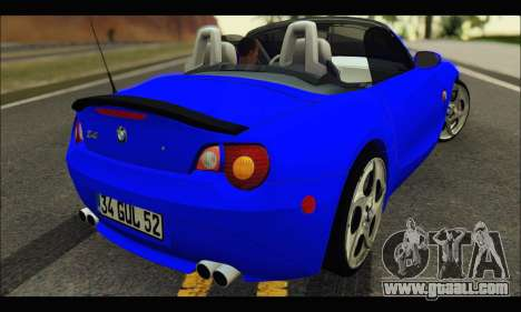 BMW Z4 for GTA San Andreas back left view