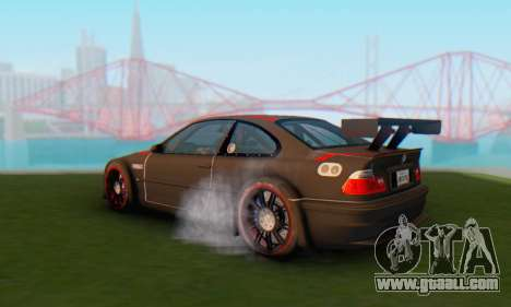 BMW M3 GTR for GTA San Andreas left view